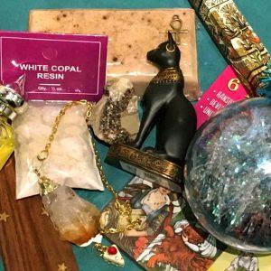 caja de productos esotericos